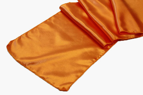 Brunt Orange Satin Table Runner