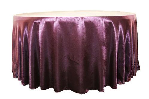 Plum Satin Table Linen