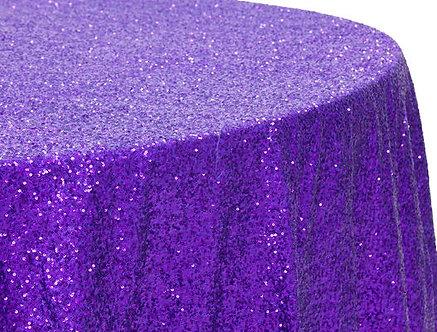 Purple Glitz Sequins Table Linen