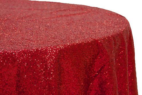 Apple Red Glitz Sequins Table Linen