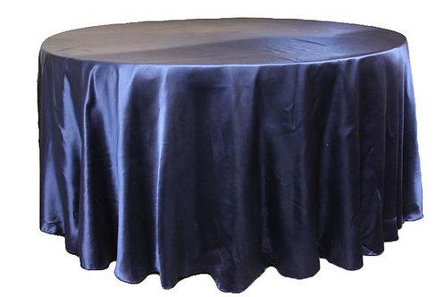 Navy Blue Satin Table Linen