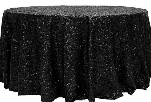 Black Glitz Sequins Table Linen