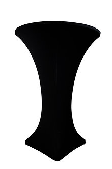 Black Spandex Cocktail Table Cover