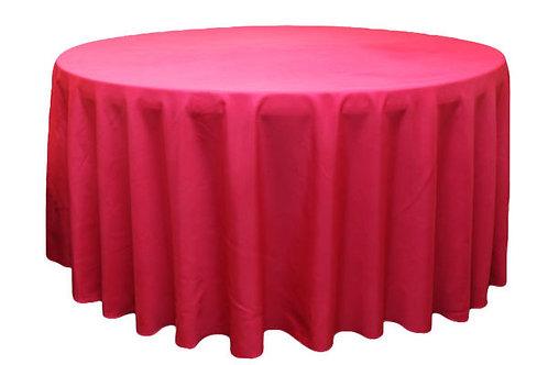 Fuchsia Polyester Table Linen