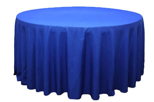 Royal Blue Polyester Table Linen