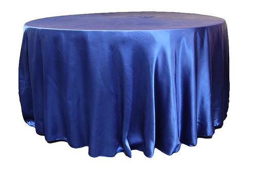 Royal Blue Satin Table Linen