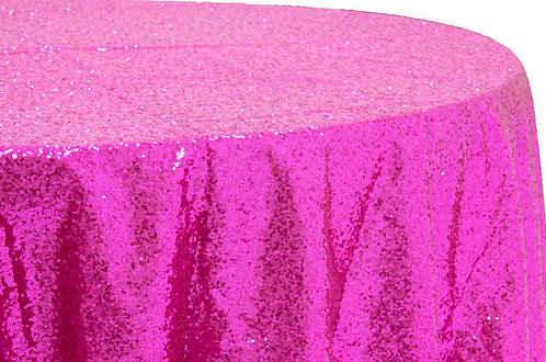 Fuchsia Glitz Sequins Table Linen