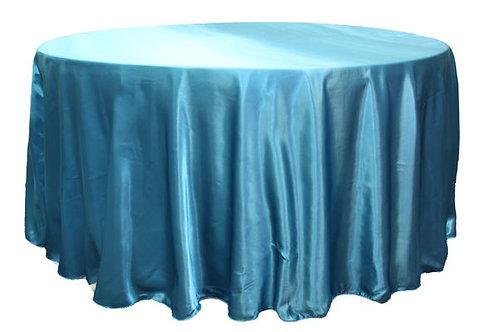 Aqua Satin Table Linen