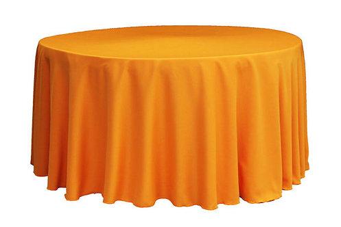 Orange Polyester Table Linen