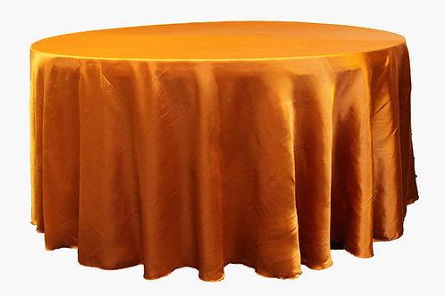 Burnt Orange Satin Table Linen