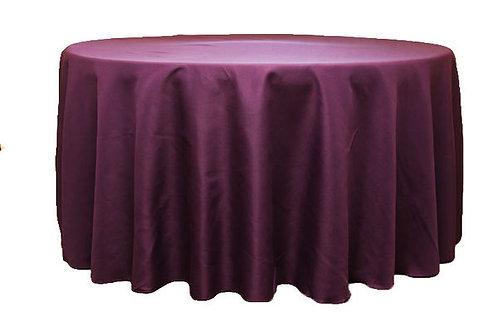 Eggplant/Plum Polyester Table Linen
