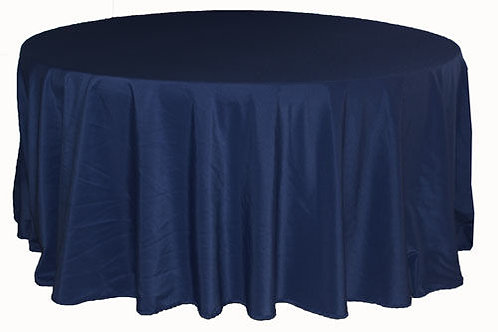 Navy Blue Polyester Table Linen