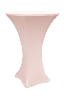 Blush Spandex Cocktail Table Cover