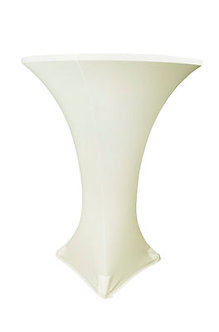 Ivory Spandex Cocktail Table Cover