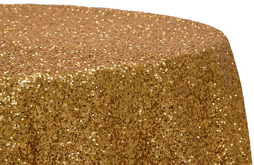 Gold Glitz Sequins Table Linen