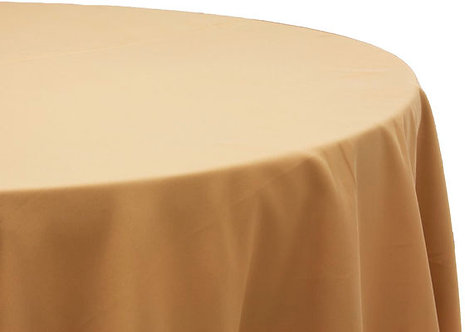 Gold Polyester Table Linen