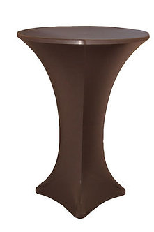 Chocolate Spandex Cocktail Table Cover