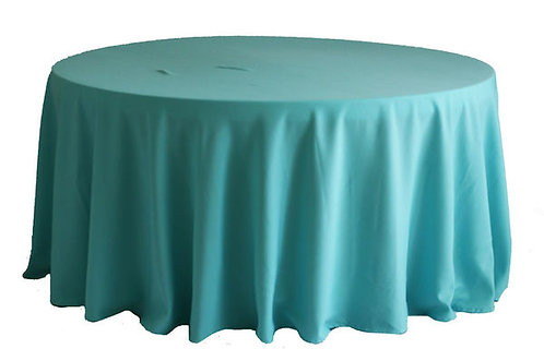 Turquoise Polyester Table Linen