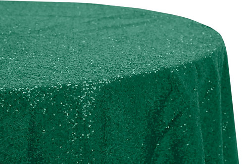 Emerald Glitz Sequins Table Linen