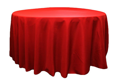 Apple Red Polyester Table Linen