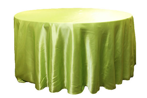 Apple Green Satin Table Linen