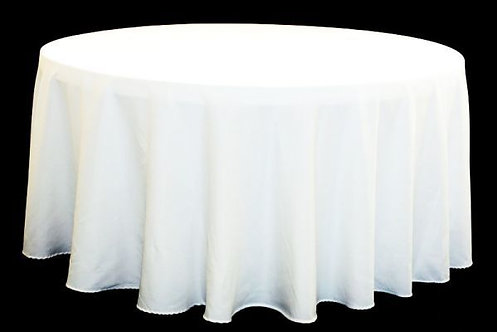 White Polyester Table Linen