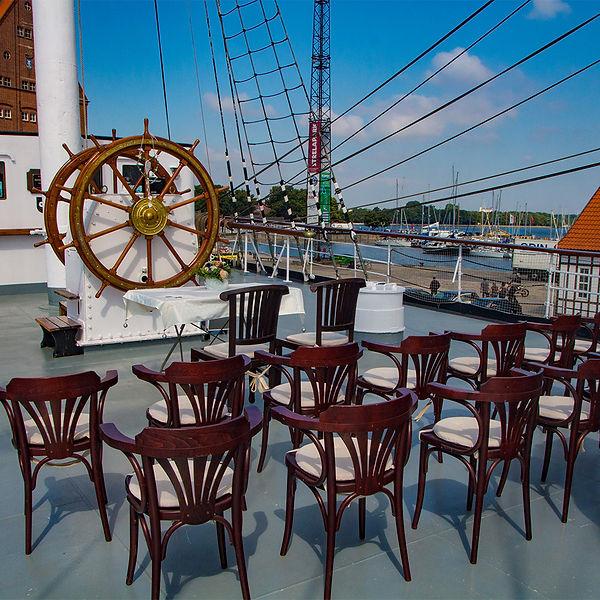 Fotograf Hochzeit Stralsund, heiraten in Stralsund auf Segelschiff Gorch Fock