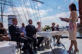 Heiraten Gorch Fock I, Hafen Stralsund