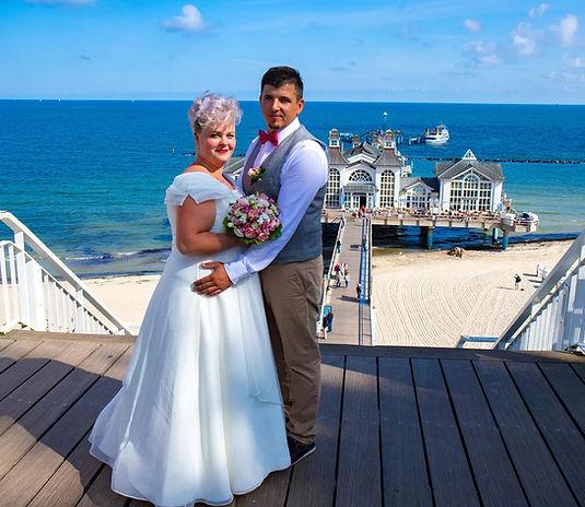 Seebrücke Sellin, heiraten an der Ostsee zu zweit, Fotograf Rügen
