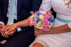 Heiraten in Stralsund, Brautpaar während der Trauung