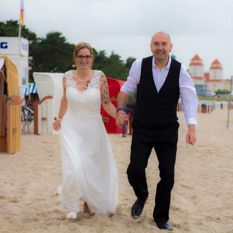 Fotoshooting am Strand Ostseebad Binz auf Rügen
