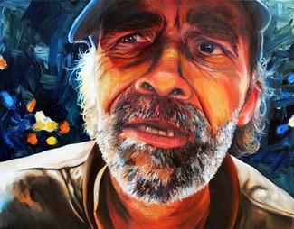 Sniffer John - Oil on canvas
