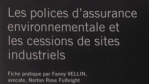 Les polices d'assurance environnementale et les cessions de sites industriels