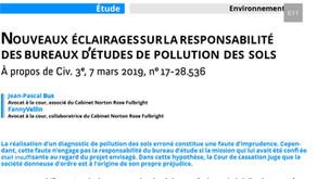 Responsabilité des bureaux d'études de pollution des sols, nouveaux éclairages