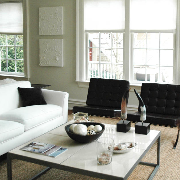 Greenwich Contemporary - living room