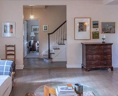 Sunlit Westchester Home - living room & entry