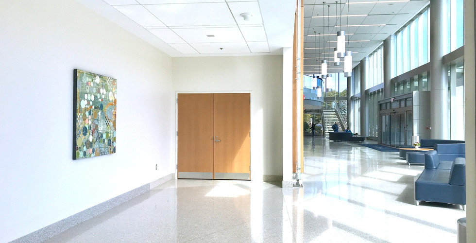 Hospital Lobby - abstract oil painting