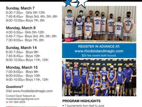 SPRING 2021 TRYOUT INFORMATION!