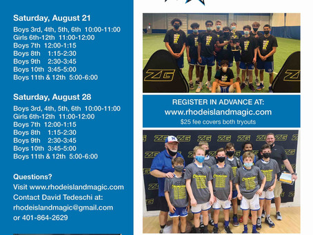 FALL TRYOUT INFORMATION!