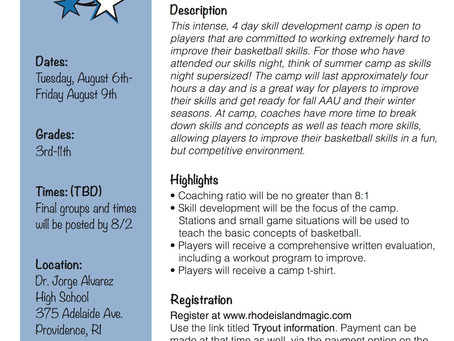 RI MAGIC-SUMMER CAMP INFORMATION