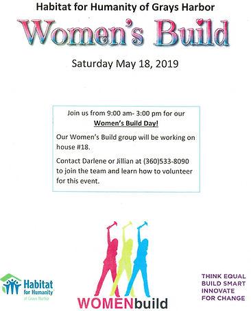 2019 Women's Build, Habitat for Humanity of Grays Harbor
