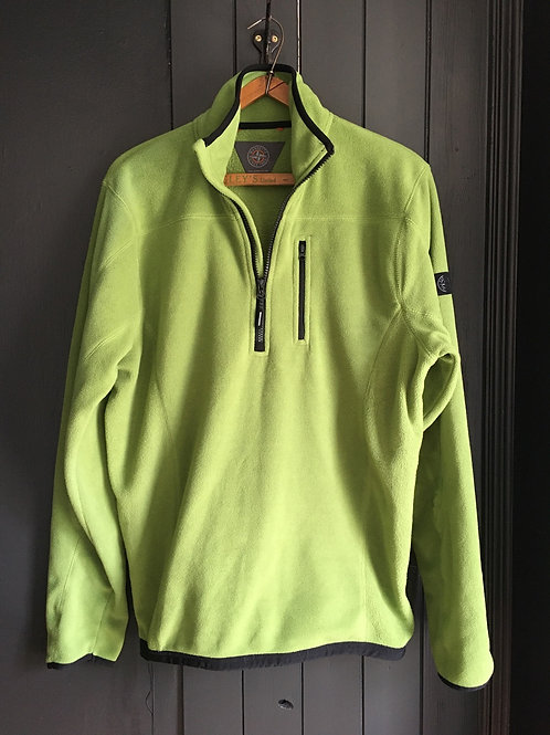 Leaf Green Hiking Fleece Pull Over / Small