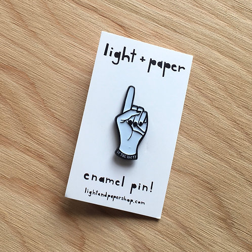 Light + Paper Up The Happy Enamel Pin