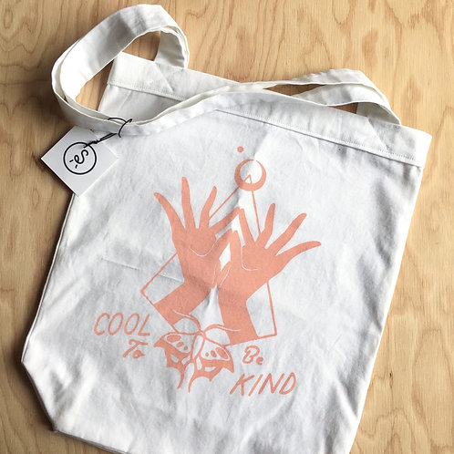 'COOL TO BE KIND' Canvas Tote Bag