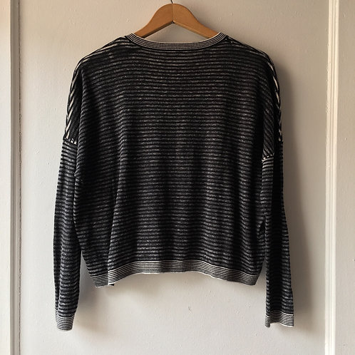 Top Shop Super Soft Drop Shoulder Crop Long Sleeve Tee / Medium - size 8
