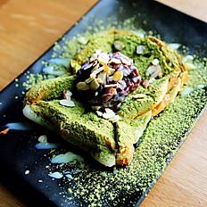 Green Tea Toast 녹차 인절미 토스트  抹茶吐司