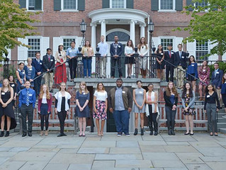 Yale alumni present Yale book awards to outstanding local high school student