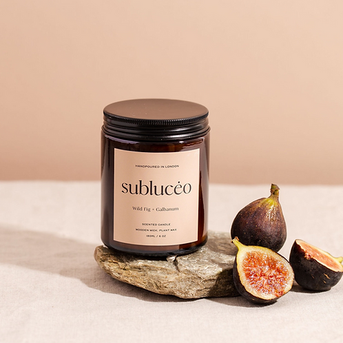 Wild Fig + Galbanum Wooden Wick Soy Candle