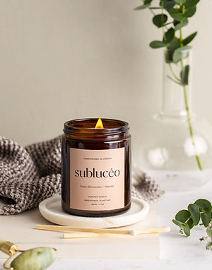 Yuzu Blossoms + Hinoki Wooden Wick Soy Candle