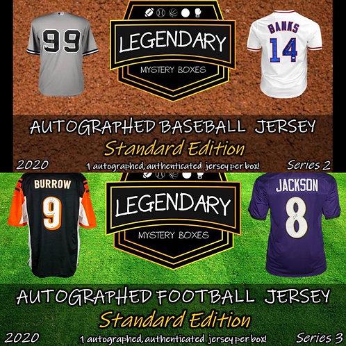 Legendary Mystery Football and Baseball Jersey Random # 0-9